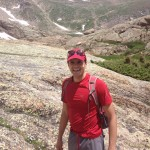 Mostafa hiking in Colorado.
